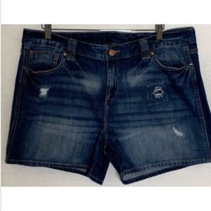 Gap women's shorts plus size 18 denim blue jean